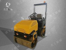 厂家直供手扶式双轮压路机 双钢轮振动碾双滚筒小型