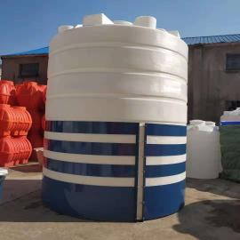 厂家直销20吨电镀厂废液储罐 混凝土外加�┐⒐� pe滚塑化工储罐