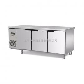 HECMAC/海克 直冷卧式冷藏工作台不锈钢三门商用厨房操作台323L