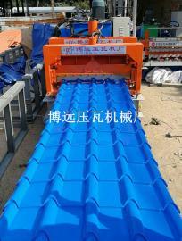 圆弧竹筒琉璃瓦压瓦机@全自动800型竹筒琉璃瓦压瓦机生产厂