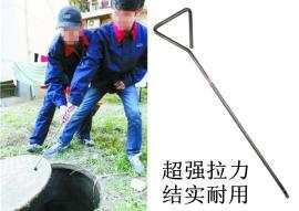 不锈钢井盖钩子(塑柄)500-1000mm304防磁防腐钩子定做井盖勾