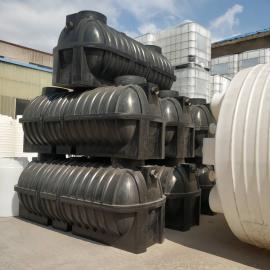 污水专用化粪池3立方农村小型家用化粪池三级净化PE塑料化粪池