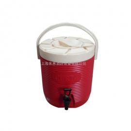 不锈钢保温桶奶茶店冷热双层豆浆果汁饮料汤茶水桶 保温茶桶红色