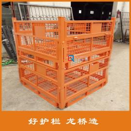 重型金属周转箱 折叠式金属周转箱 龙桥护栏专业生产
