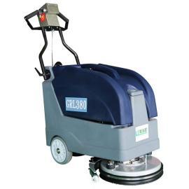 格瑞勒小型手推式电瓶洗地机GRL380车库走廊餐厅客房用洗地机