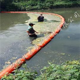 拦水坝前置拦污栅 水上挡漂塑料浮体安装介绍