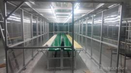 防静电网格围帘洁净棚,FFU风机过滤净化棚