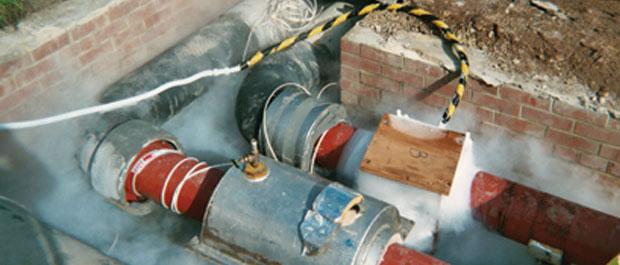 管道带压速冻机,热电热力管道带压冷冻,管道冷冻机