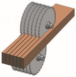 方木多片锯设备 方木多片锯锯片厂家 方木多片锯视频