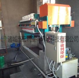板框压滤机 手动板框式污泥压滤机 板框污泥脱水机简单易操作