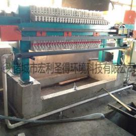 手动板框式污泥压滤机 板框压滤机 板框式污泥脱水机可定做