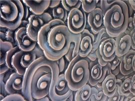不锈钢祥云冲压板青古铜做旧酒店墙面装饰板