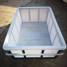 方形塑料周转箱1100L食品级方桶定制服装周转箱产地货源