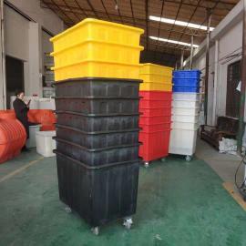 洗水漂染塑料方桶300L服装印染周转箱泡瓷砖专用箱方箱可定制