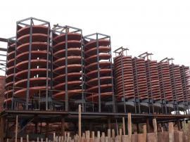 洗煤螺旋溜槽 BLL-1500螺旋溜槽 玻璃钢螺旋溜槽参数