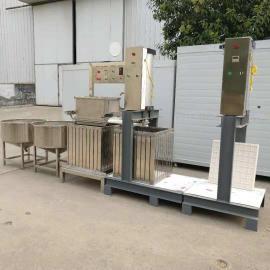 全自动豆腐干机视频盛隆豆腐干机器烟熏自动化生产压豆腐干机器