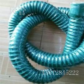 大口径橡胶伸缩风管耐高温橡胶吸尘软管DN200/250过粉尘软管