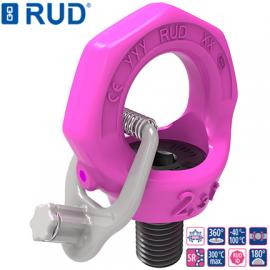德国RUD进口固定螺栓吊点VRS-F路德带制动片旋转吊环索具吊具