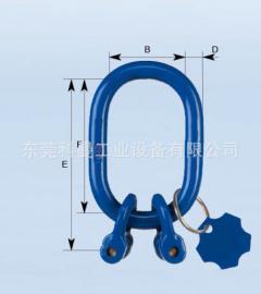 德国THIELE进口固定式双肢主挂环TWN吊装中间环样式吊钩吊具配件