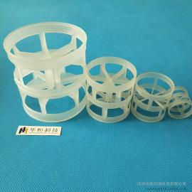 化工填料鲍尔环填料 25*25*0.5塑料鲍尔环 PP聚丙烯塑料鲍尔环