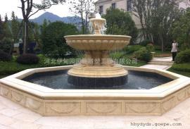 流水花钵 单层喷泉 大理石石雕喷泉