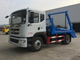 东风多利卡D9 8-10方摆臂式垃圾车,玉柴160或康机180马力