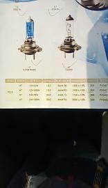 汽车灯泡H7 12V55W、12V100W、24V70W