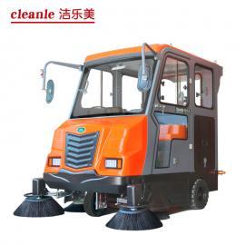 全封闭驾驶式马路煤场扫地机洁乐美KM-V7城市街道垃圾清扫车