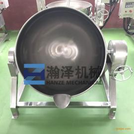瀚泽机械 大型卤肉夹层锅 燃气加热蒸煮鸡鸭鱼猪头肉蒸煮锅