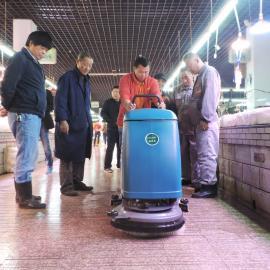 菜市场地面洗地机拖地机小方砖地面清洁洗地吸干机车间用洗地机