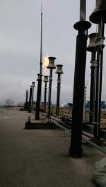 24套发生炉煤气放散自动点火装置正在进行中