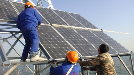 9千瓦离网光伏发电站 别墅屋顶太阳能发电系统 分布式光伏组件