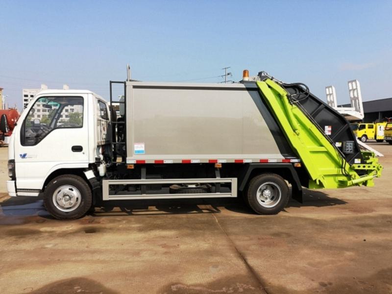 五十铃3吨压缩垃圾车|6立方3吨后装式垃圾压缩车高端品牌推荐