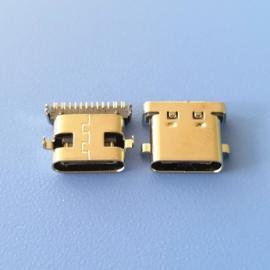 沉板1.0TYPE C16P3.1母座两脚沉板 脚距10.64前插后贴SMT