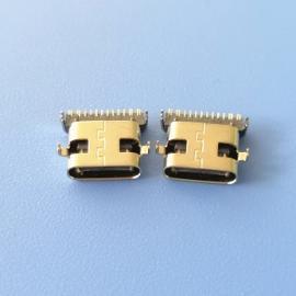 沉板1.0TYPE C16P沉板式母座两脚沉板 脚距10.64前插后贴