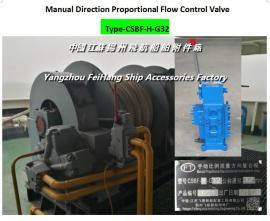 船用锚机手动比例流量方向复合阀 CSBF-M-G32