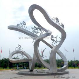 体育运动雕塑 赛车雕塑 骑自行车雕塑 竞赛雕塑 城市不锈钢雕塑