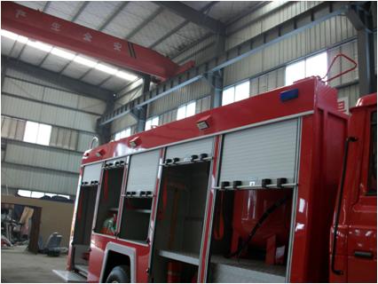 消防车结构分解