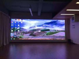 领袖公馆售楼部LED全彩屏多少钱P3电子屏工程安装报价