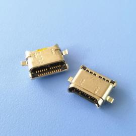双包壳USBTYPE C双排贴片12+12USB母座两脚沉板沉板0.7