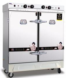 美厨缺水断电蒸饭柜 商用24盘双门电蒸饭柜蒸饭箱