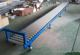箱包生产厂家用动力滚筒输送机碳钢喷塑 线和转弯滚筒线