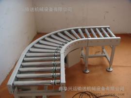 无动力滚筒输送机生产分拣 倾斜输送滚筒