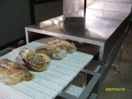 烤鸭隧道式微波加热杀菌设备