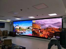 公司展厅P1.875LED高清大屏幕 P1.8电子全彩显示屏工厂造价