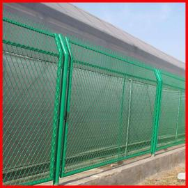 菱形钢板网护栏网绿色浸塑 钢板网防护栏隔离栅 定做定制 实体