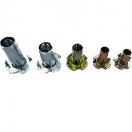 镀锌M4M6M8四爪螺母家具螺母镶嵌四爪钉现货紧固件定制非标件
