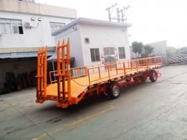 5吨带登车桥护栏型平板拖车