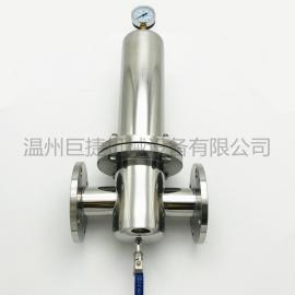 法兰蒸汽过滤器 不锈钢压缩空气过滤器 不锈钢精密除菌过滤器