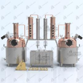 酿酒设备多功能连续紫铜蒸馏设备 纯露精油萃取 连续式蒸馏